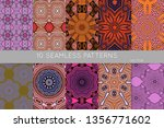 collection of seamless patterns.... | Shutterstock .eps vector #1356771602