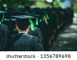 rear view of graduates join the ...   Shutterstock . vector #1356789698