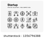 startup icons set. ui pixel... | Shutterstock .eps vector #1356796388
