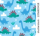 cute seamless pattern with...   Shutterstock .eps vector #1356805418