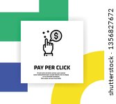 pay per click icon concept | Shutterstock .eps vector #1356827672