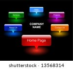 color web menu | Shutterstock .eps vector #13568314