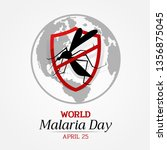 world malaria day banner with... | Shutterstock .eps vector #1356875045