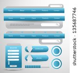 web designing element set | Shutterstock .eps vector #135687746
