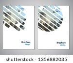 vector modern brochure  flyer... | Shutterstock .eps vector #1356882035