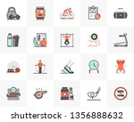 flat line icons set of... | Shutterstock .eps vector #1356888632