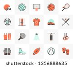 flat line icons set of various... | Shutterstock .eps vector #1356888635