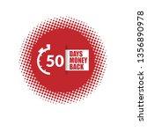 50 days money back sign. modern ...   Shutterstock .eps vector #1356890978