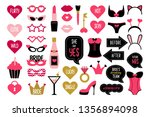set of hen party photo booth... | Shutterstock .eps vector #1356894098