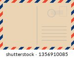 travel retro postcard blank   Shutterstock .eps vector #1356910085