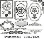 set of decorative borders ... | Shutterstock .eps vector #135691826