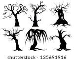 creepy cartoon trees. eps 8... | Shutterstock .eps vector #135691916