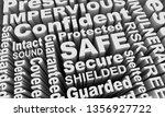 safe sound secured protected...   Shutterstock . vector #1356927722