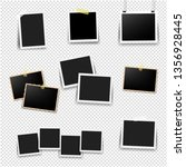 photo frame big set with... | Shutterstock . vector #1356928445