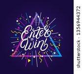 enter to win hand written... | Shutterstock .eps vector #1356944372