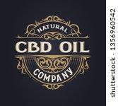 cbd oil logo. vintage style....   Shutterstock .eps vector #1356960542