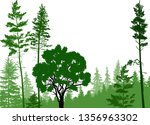 illustration with green forest... | Shutterstock .eps vector #1356963302