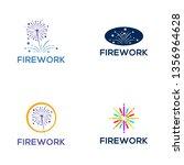 firework logo design   Shutterstock .eps vector #1356964628