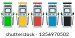 set of car filling station in a ... | Shutterstock .eps vector #1356970502