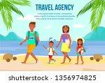 summer vacation on beach vector ... | Shutterstock .eps vector #1356974825