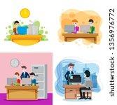 co worker illustration | Shutterstock .eps vector #1356976772