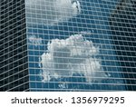 cells and lines. glass and... | Shutterstock . vector #1356979295