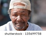 Closeup Of Old Homeless Africa...