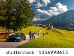 awesome alpine highlands in... | Shutterstock . vector #1356998615