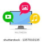 vector concept of multimedia...   Shutterstock .eps vector #1357010135