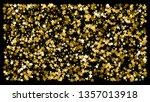 golden glitter star confetti on ... | Shutterstock .eps vector #1357013918