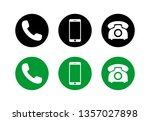 phone icon vector. set of phone ... | Shutterstock .eps vector #1357027898