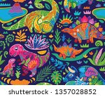 fantasy seamless pattern with... | Shutterstock .eps vector #1357028852