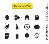 mixed icons set with pdf ...