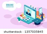 online education and courses... | Shutterstock .eps vector #1357035845
