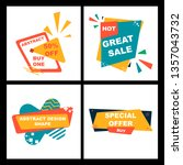 sale banner template design ... | Shutterstock .eps vector #1357043732