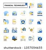 financial technology  fintech ...   Shutterstock .eps vector #1357054655