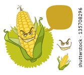 Evil Corn With Scary Smile And...