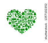 set of ecology icons | Shutterstock .eps vector #1357102352