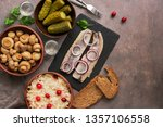 traditional russian snacks and... | Shutterstock . vector #1357106558