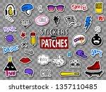 vector set of teens stickers in ... | Shutterstock .eps vector #1357110485