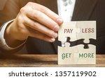 businessman collects wooden...   Shutterstock . vector #1357119902