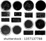 big collection of grunge post... | Shutterstock .eps vector #1357137788