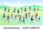people marathon running sport...   Shutterstock .eps vector #1357138955