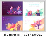 landing page template with... | Shutterstock .eps vector #1357139012