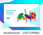 landing page template with... | Shutterstock .eps vector #1357139882