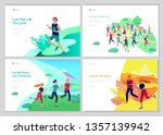 landing page template with... | Shutterstock .eps vector #1357139942