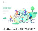 landing page template with... | Shutterstock .eps vector #1357140002