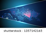 abstract technology ui... | Shutterstock .eps vector #1357142165