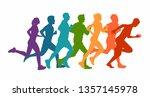 running marathon  people run  ... | Shutterstock .eps vector #1357145978