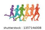 running marathon  people run  ... | Shutterstock .eps vector #1357146008